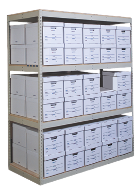 Record Storage - Shelving and boxes