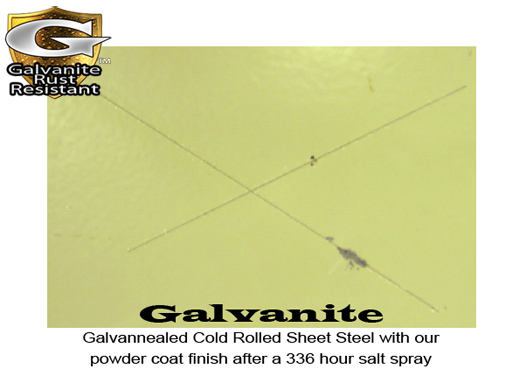 Galvanite Salt Spray Test - Before