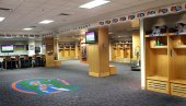 Football Wood Lockers and Trophy Cases