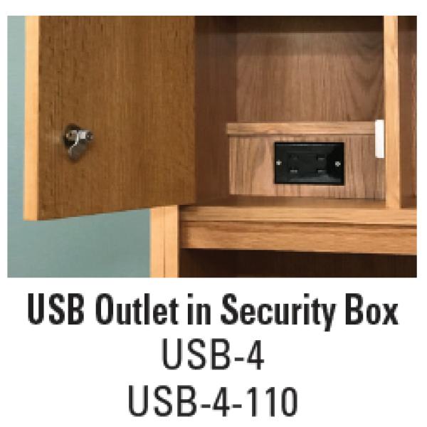 USB Outlet in Security Box