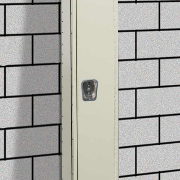 6 - Minimum Punched End Panel (KD lockers only):