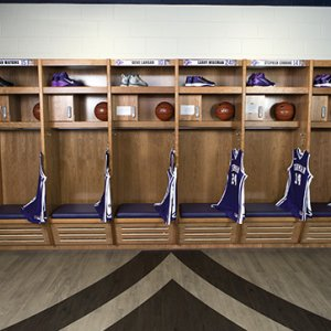 Basketball Wood Lockers