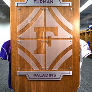Wood Football Lockers